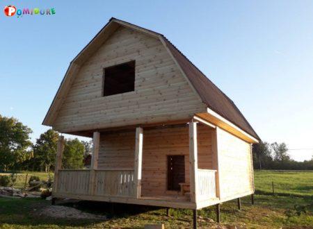 Дом из бруса Елена 6 на 6 установка Могилев и рн