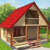 Дом-Баня Заря из бруса 6х6 с установкой